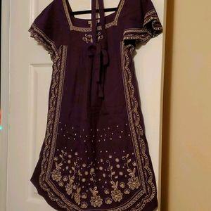 Purple short dress/gown